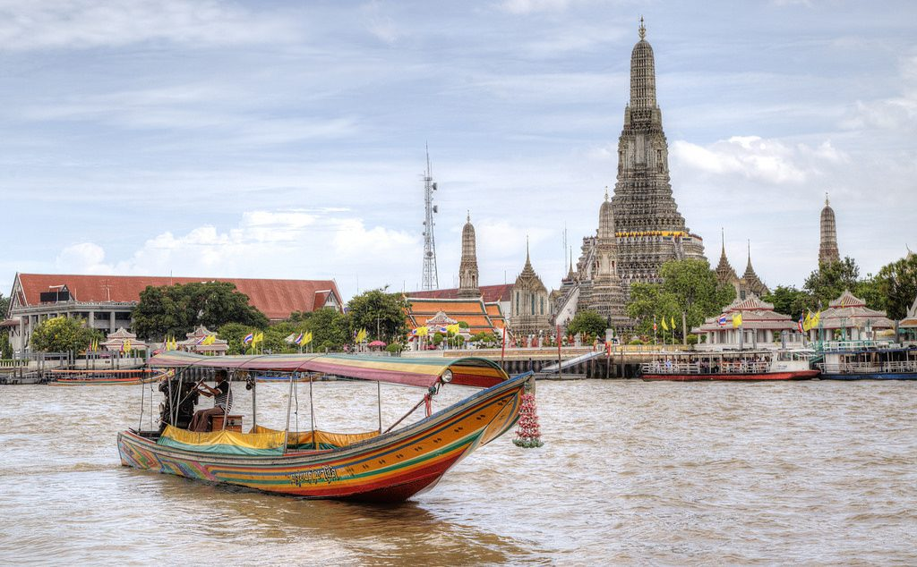 Paseo por el Río Chao Phraya en Longtail