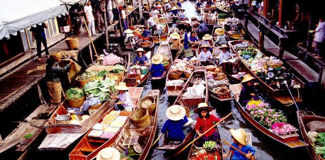 Mercado Flotante de Bangkok - Damnoen Saduak