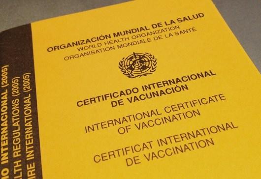 Certificado Internacional Fiebre Amarilla