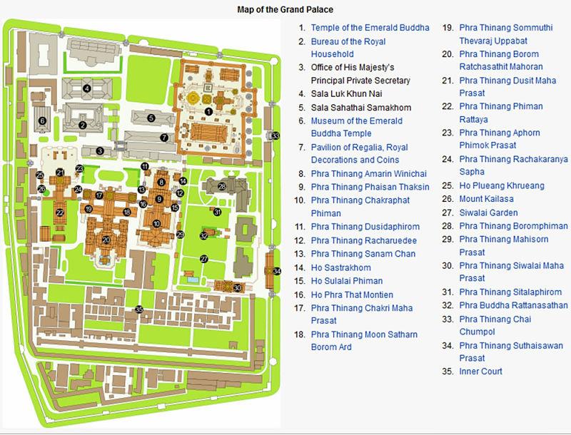 Gran Palacio De Bangkok - Mapa