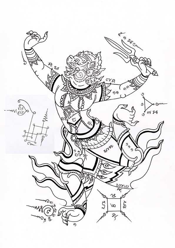 Tatuajes Tailandeses - Hanuman