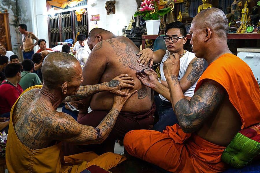 Tatuajes Tailandeses en el Templo Wat Bang Phra