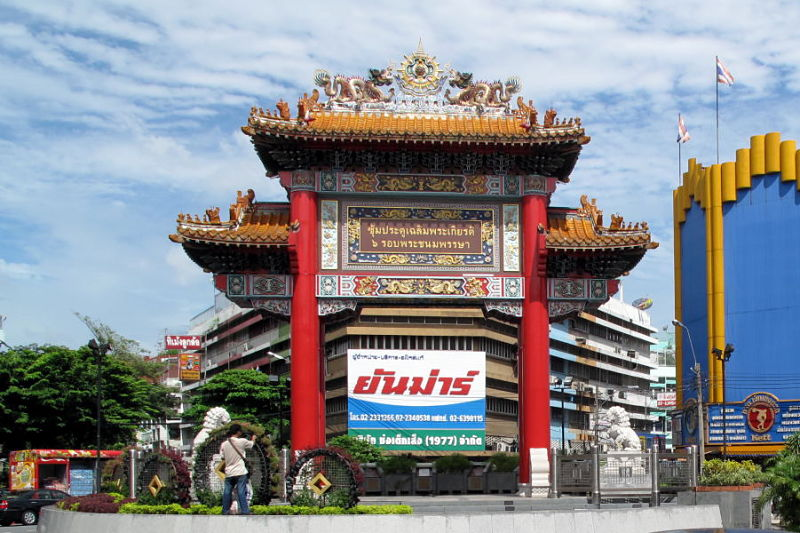 Barrio Chinatown de Bangkok - Puerta Principal