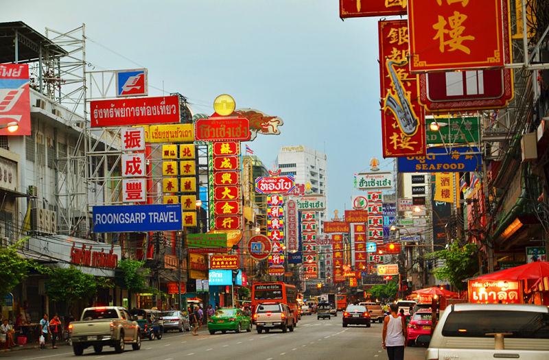 Barrio Chinatown de Bangkok - Yaowarat Road