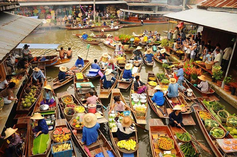 Visita al Mercado Flotante Damnoen Saduak en Bangkok