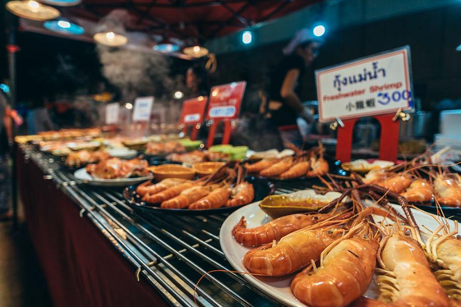 Mercado Nocturno del Sábado de Chiang Mai - Marisco