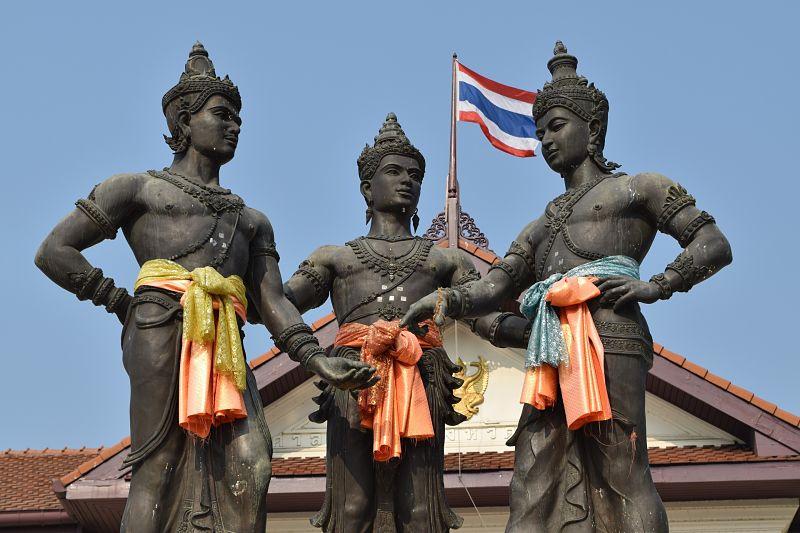 Monumento a los 3 Reyes de Chiang Mai