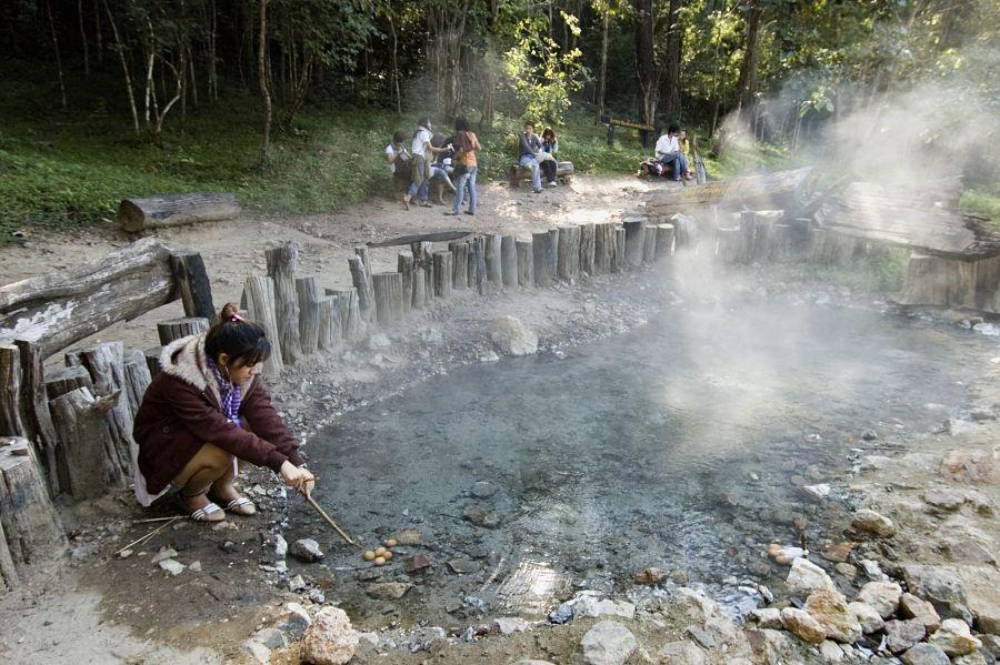 Aguas Termales de Pai - Tha Pai - Cocer Huevos