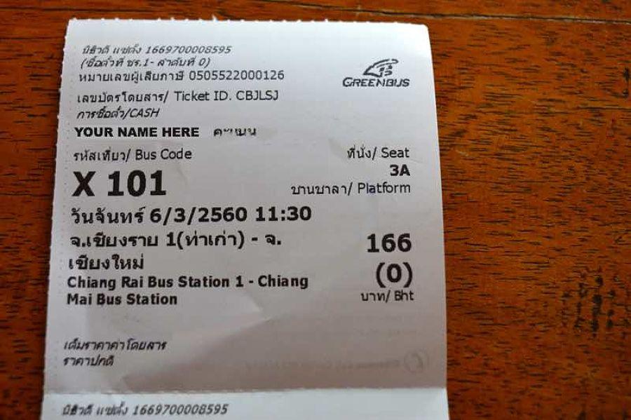 Cómo ir de Chiang Mai a Chiang Rai - Billete de autobús