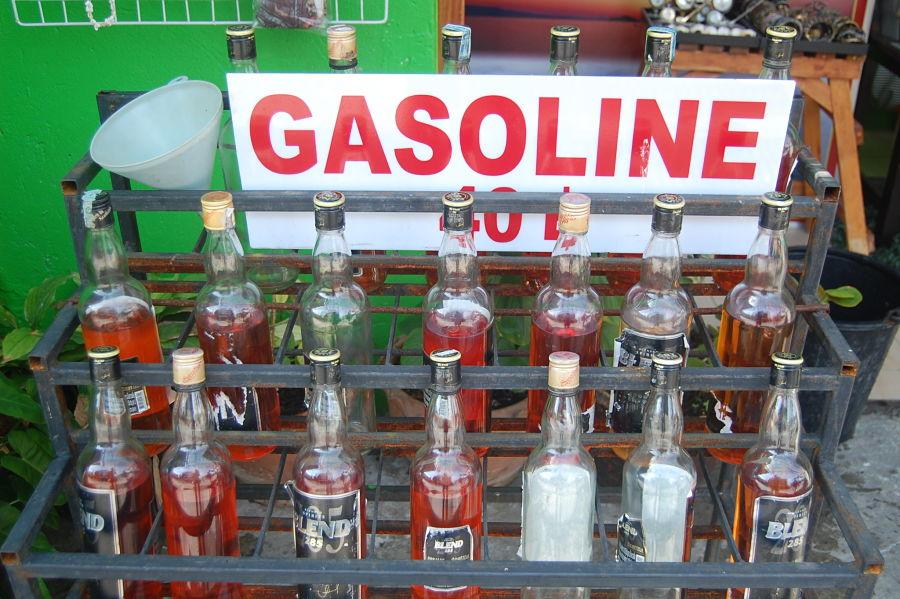 Cómo ir de Chiang Mai a Chiang Rai - Venta de gasolina