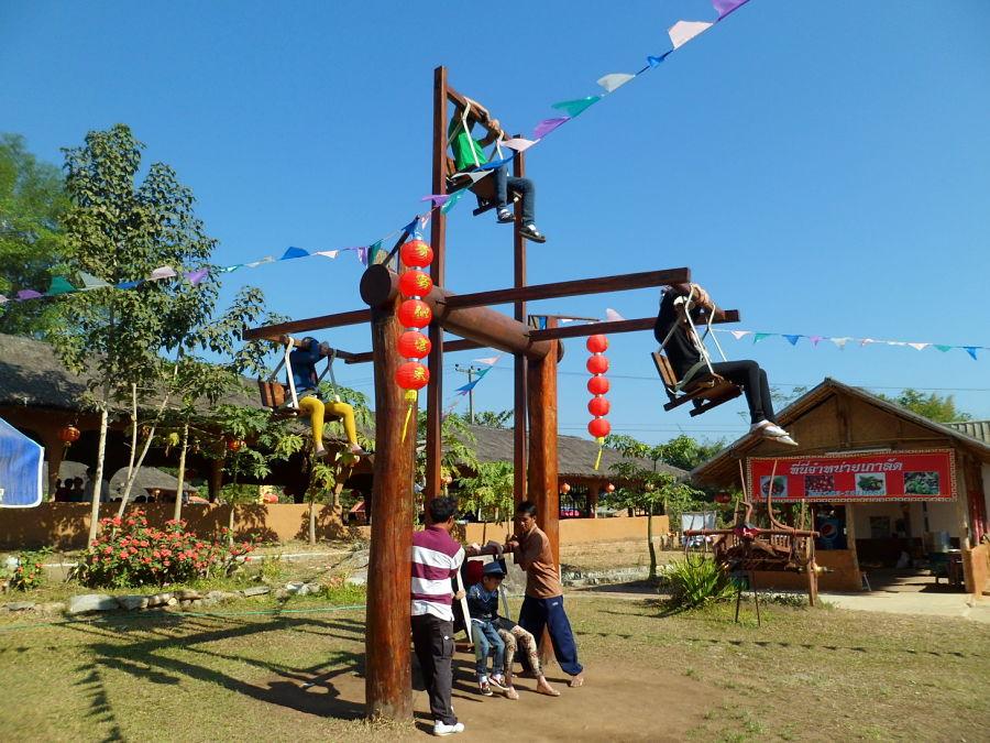 El Pueblo Chino de Pai - Santichon Village - Columpio