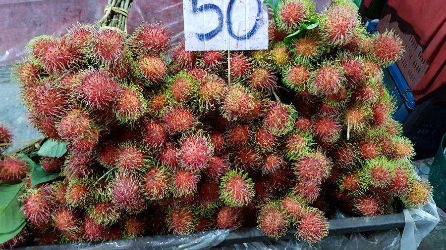 Frutas Tropicales de Tailandia - Rambután