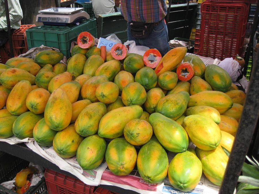 Frutas típicas de Tailandia - Papaya