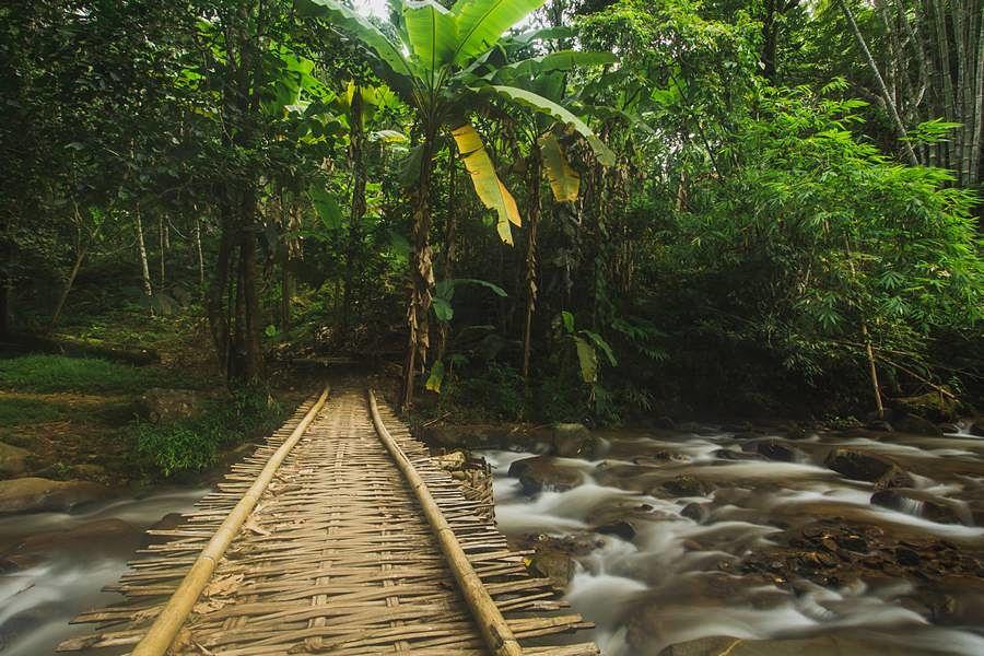 Parque Khun Korn - Las Cascadas de Chiang Rai - Puente