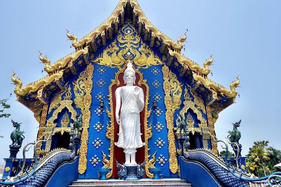Templo Azul de Chiang Rai - Buda Parte Trasera