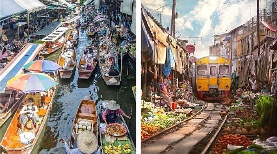 Excursión Mercado Flotante y de las Vías del Tren desde Bangkok