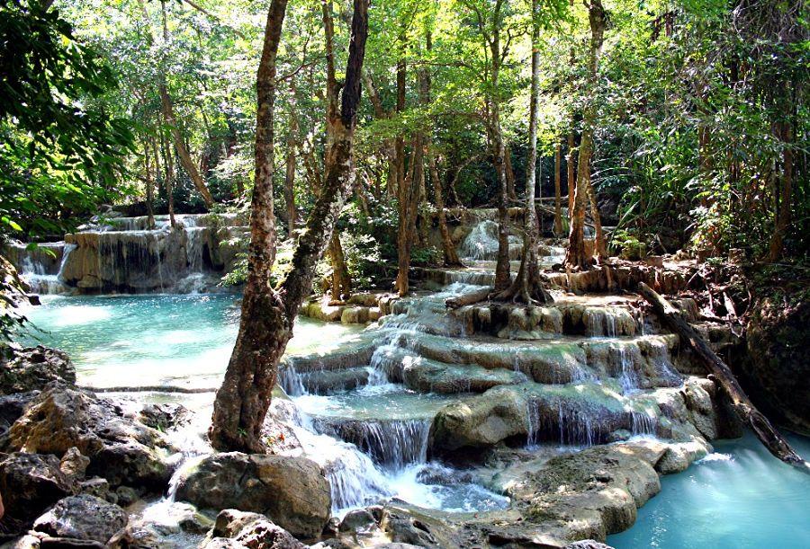 Cascadas Erawan - Nivel 5 - Kanchanaburi (Tailandia)