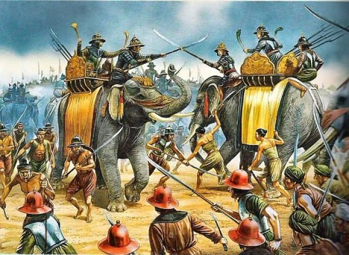 Batallas históricas de Tailandia - Pinturas Antiguas