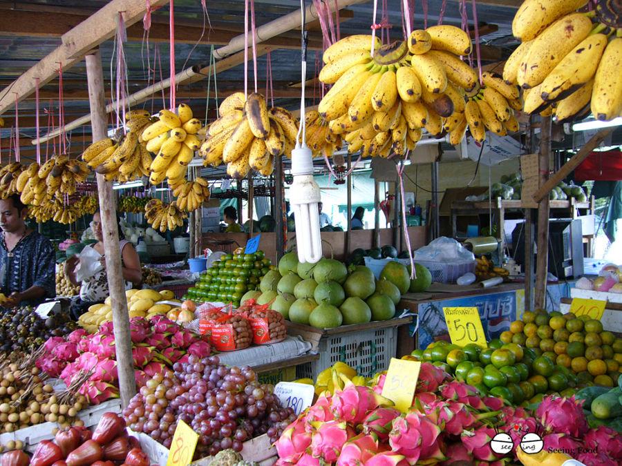 Mercado de Fruta en Tailandia