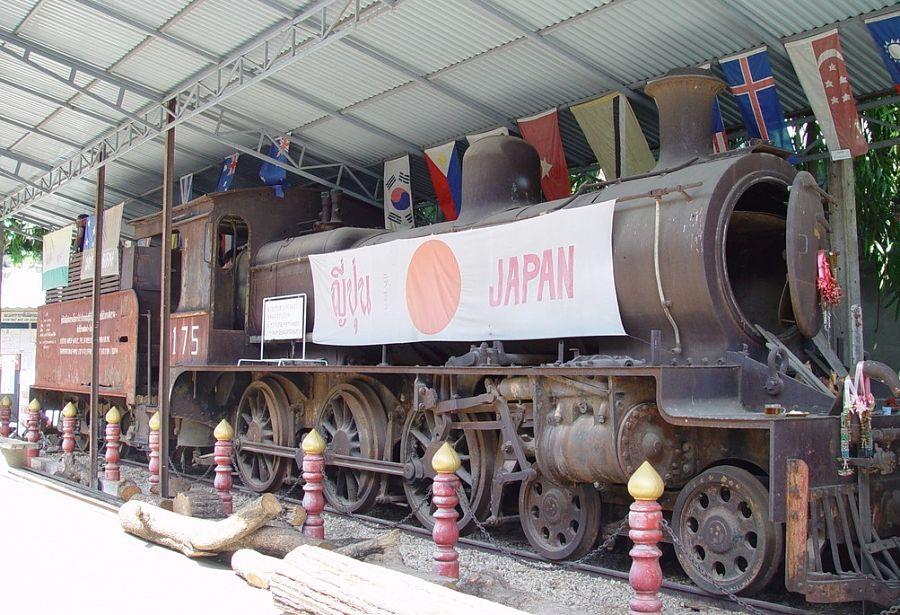 Tren de la muerte en el Museo de Guerra JEATH - Kanchanaburi