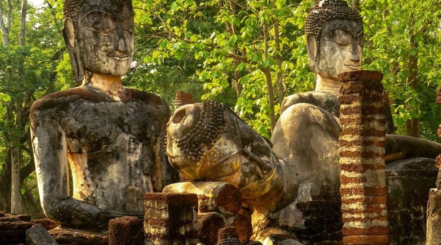 Parque Histórico de Kamphaeng Phet - Buda Reclinado