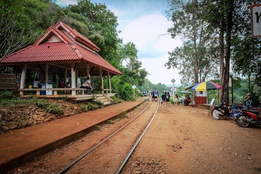 Una de las estaciones del tren de la muerte en Nam Tok
