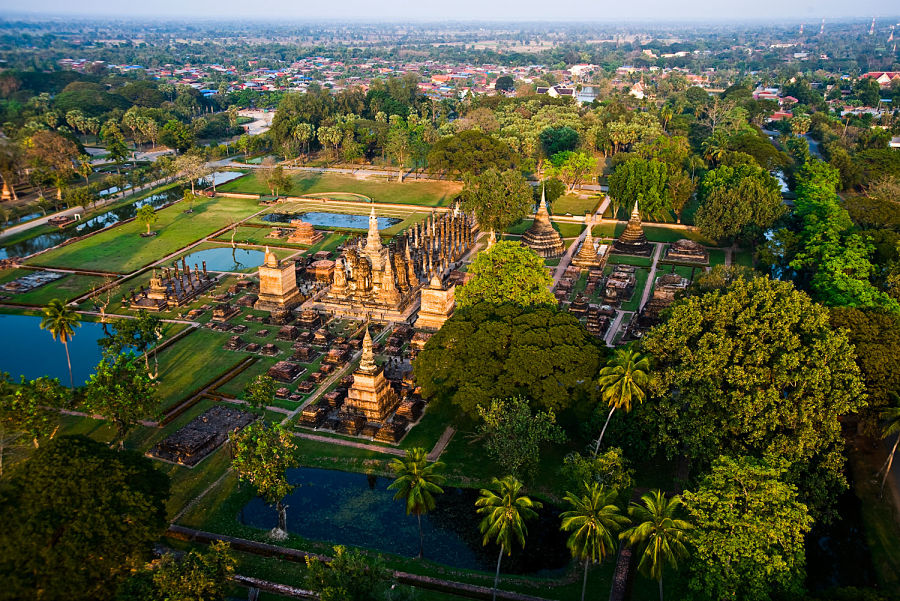 Vista Panorámica Sukhothai