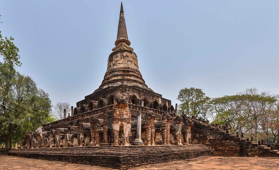 Wat Chang Lom - Ruinas de Si Satchanalai