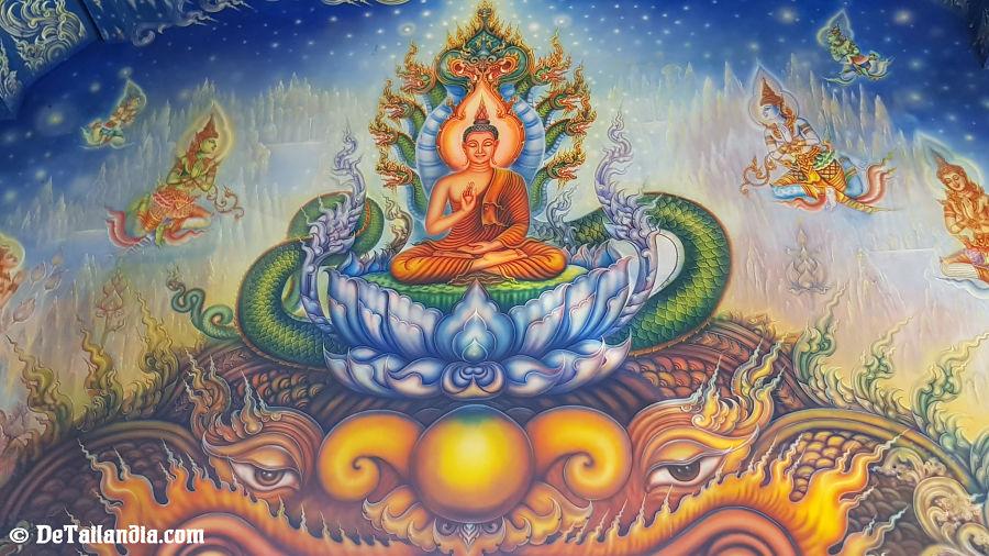 Pinturas del Templo Azul de Chiang Rai