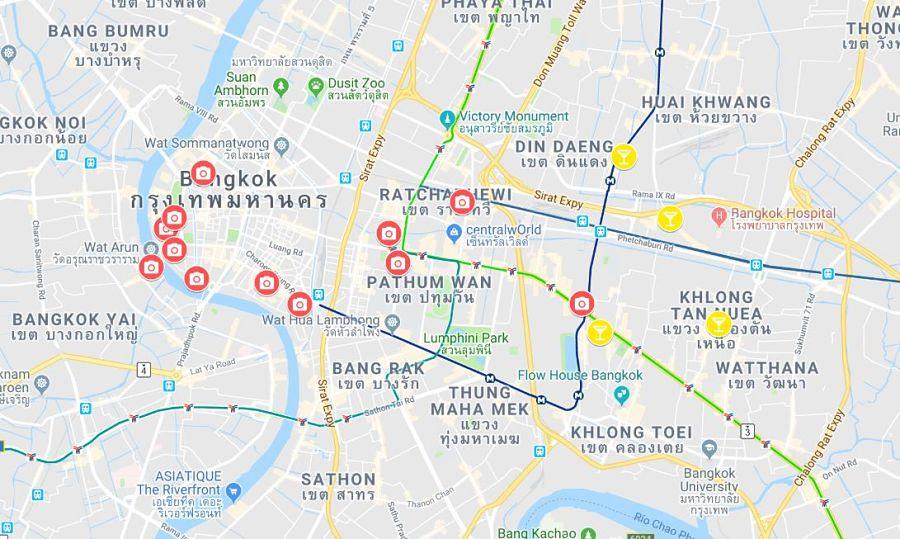 Mapa Turistico De Bangkok 2018 Tailandia Detailandia Com