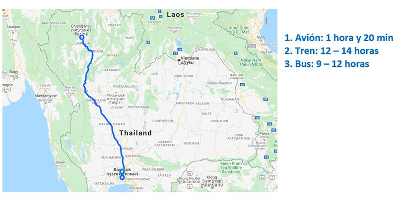 Como ir de Bangkok a Chiang Mai