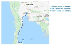 Como ir de Bangkok a Koh Phangan