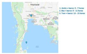 Mapa-Bangkok-Koh Tao