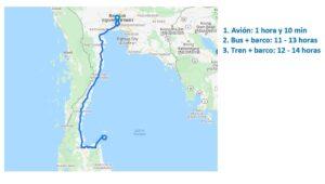 Mapa-Bangkok-Koh Samui