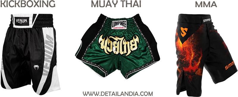 Tipos de pantalones de Muay Thai